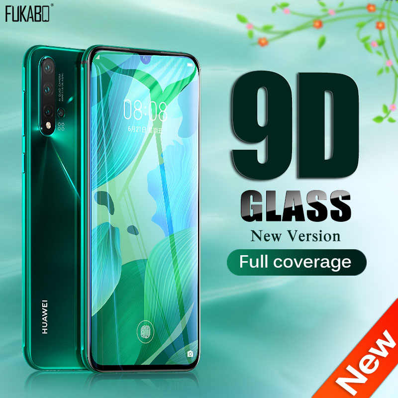 9D Full Cover กระจกนิรภัยสำหรับ Huawei P30 Pro P20 Lite P สมาร์ท 2019 ป้องกันหน้าจอสำหรับ Honor 20 pro 10 Lite 8X ฟิล์ม