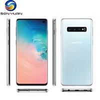 Original Samsung Galaxy S10 G973U teléfono móvil G973F 8GB RAM 128GB ROM Octa Core Snapdragon 855 NFC 4G LTE desbloqueado teléfono móvil
