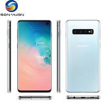 Oryginalny Samsung Galaxy S10 G973U telefon komórkowy G973F 8GB RAM 128GB ROM Octa rdzeń Snapdragon 855 NFC 4G LTE odblokowany telefon komórkowy