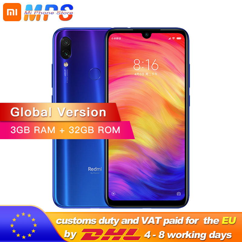 Global Version Xiaomi Redmi Note 7 3GB 32GB Smartphone Snapdragon 660 Octa Core 4000mAh 6.3