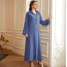 Moroccan Kaftan Dubai Abaya Diamond Hooded Maxi Dress Women Long Party Gown Islamic Clothing Turkey Caftan Muslim Jilbab Robe