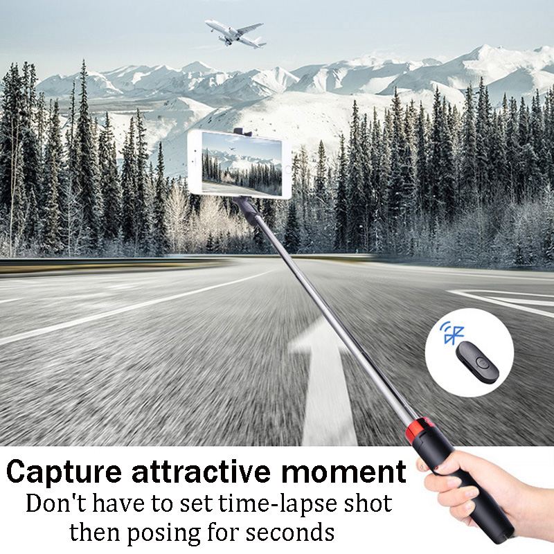 BFOLLOW 3 in 1 Tripod Selfie Stick with Bluetooth Mobile Phone Holder Stand for Huawei Video Call Youtuber Tiktok Zoom Vlogger 3