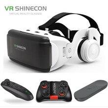 """Mới VR Shinecon G06E 3D Kính Điện Thoại Di Động Video Phim Dành Cho 4.7 6.0 """"Mũ Bảo Hiểm Các Tông Kính Thực Tế Ảo Thông Minh với Tay Cầm Chơi Game"""