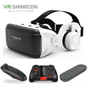 "Image 1 - VR Shinecon ใหม่ G06E 3D แว่นตาโทรศัพท์มือถือวิดีโอสำหรับ 4.7 6.0 ""กระดาษแข็ง Virtual Reality Smartphone ด้วย Gamepad"