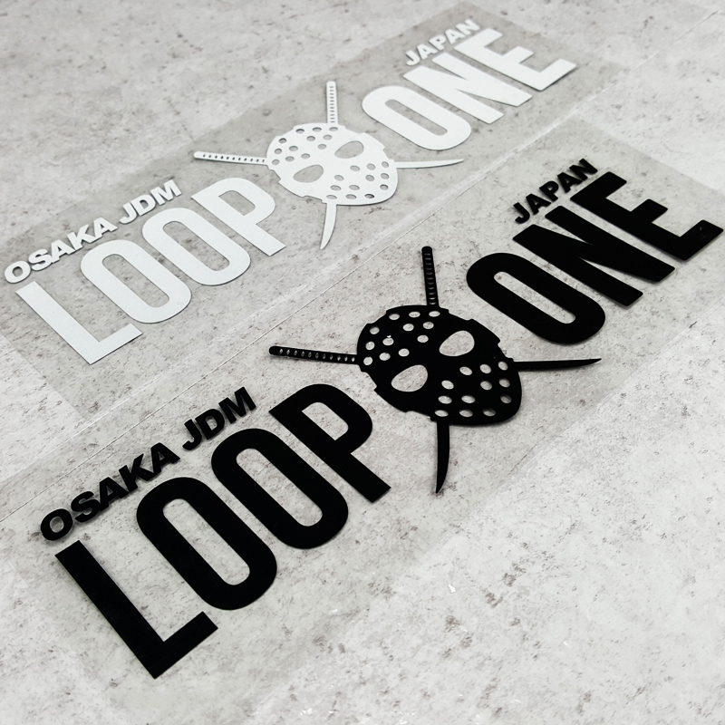G093 KANJOZOKU OSAKA JDM Japanese LOOP ONE Modified Car Stickers And Decals Fuel Tank Car Windshield Stickers