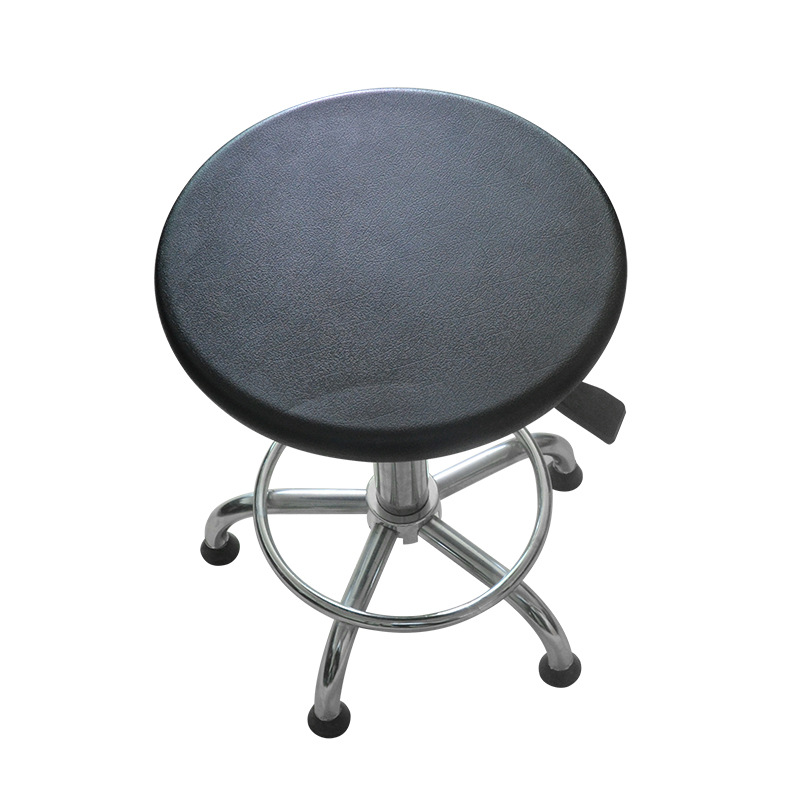 Anti-static Small Backrest Round Stool Laboratory Round Stool Pu Anti-static Stool Production Line Height Adjustable Work Chair