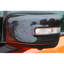 For Jeep Renegade 2016 2017 2018 Carbon Fiber Color Side Mirror Cover Rear View Overlay Chrome Car Styling Accessories