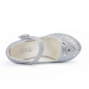 Image 5 - Children Princess Shoes for Girls Sandals High Heel Glitter Shiny Rhinestone Enfants Fille Female Party Dress Shoes