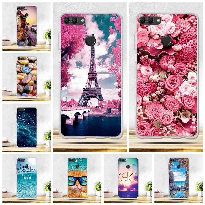 Cover For <font><b>Huawei</b></font> Y9 <font><b>2018</b></font> <font><b>Case</b></font> <font><b>Y</b></font> <font><b>9</b></font> <font><b>2018</b></font> <font><b>Case</b></font> Soft silicon Shell FOR Phone <font><b>Case</b></font> <font><b>Huawei</b></font> Y9 <font><b>2018</b></font> <font><b>Cases</b></font> <font><b>Huawei</b></font> Enjoy 8 Plus FLA-AL00 image