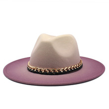 2021 Woolen Women Men Ladies Fedoras Top Hat Jazz Caps Winter Autumn Imitation European American Round Caps Bowler Hats