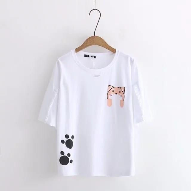 2020 New Cotton T-shirt Fashion Style T Shirts Women O-Neck Tee Shirts Clothing