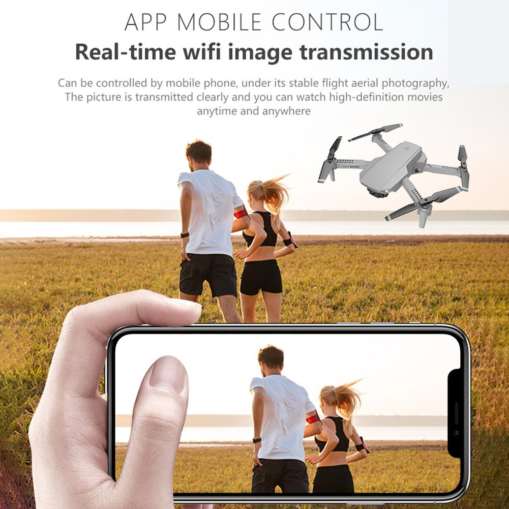 E88 Mini RC Drone Folding Aerial Photography Aerial Vehicle 720p/1080P/4K WIFI Real-time Image Transmission RC Quadcopter
