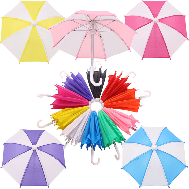 Umbrella Model Doll Accessories For 18 Inch American Doll & Born Baby Doll Clothes 43 cm,Toys For Girls,Our Generation зонтик(China)