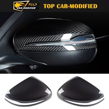 100% Carbon Fiber Side Rearview Mirror Cap Cover Trim for Mercedes Benz G Class 2019 up G500 W464 G550 G63 G350d Car Accessories