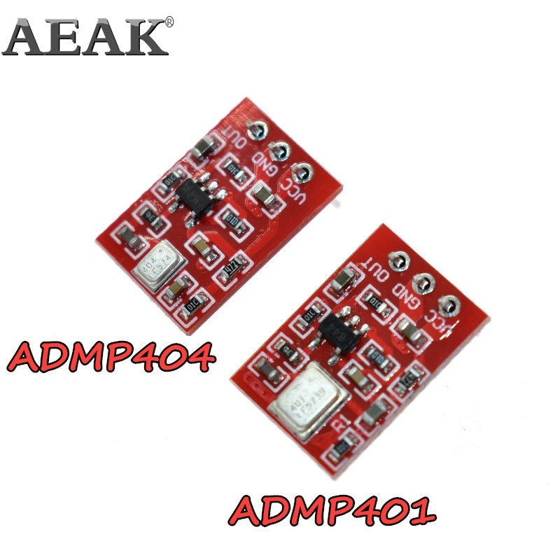 ADMP401 ADMP404 MEMS Microphone Breakout Module Board For Arduino Universal 1.3cm*1cm 1.5 to 3.3VDC With Pins
