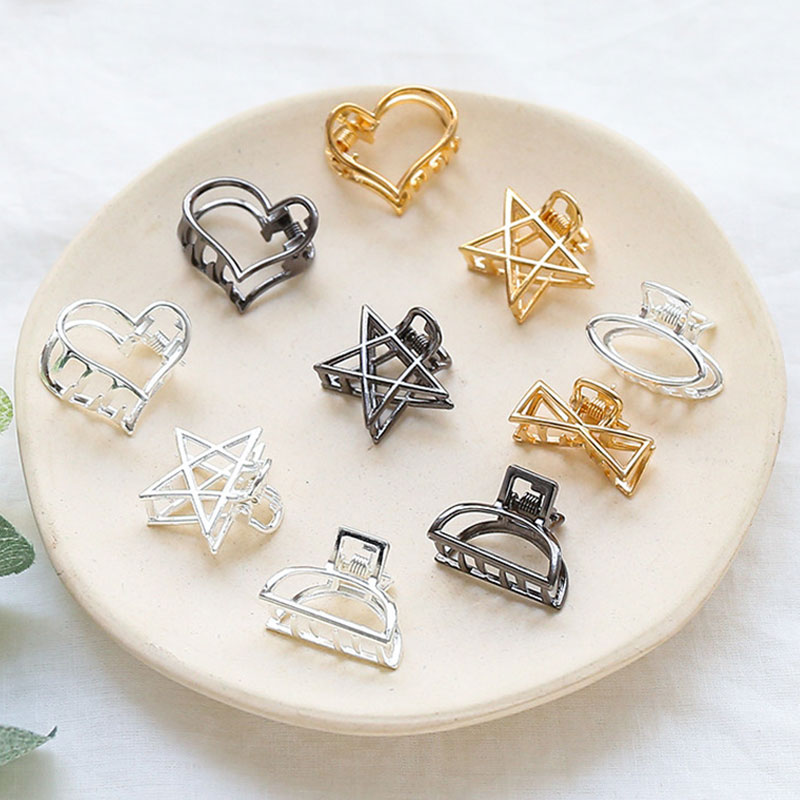 Fashion Geometric Simple Girls Hairpins Crab Hair Claw Clamp Women Barrettes Hair Clips Hairgrip Hair Accessories Headwear