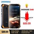Телефон DOOGEE S40 IP68/IP69K  4G  прочный  мобильный телефон мАч  Android 4650  9 0 дюйма  18:9 MT6739  четырехъядерный  3 ГБ  32 ГБ  NFC  Face ID  LTE