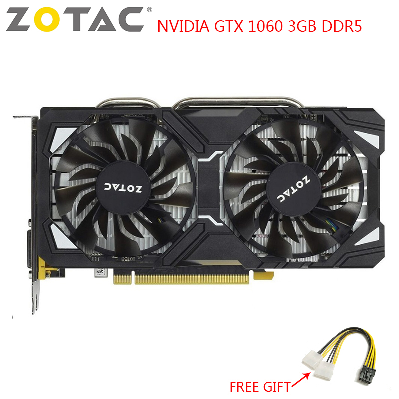 ZOTAC NVIDIA Video Card GTX 1060 3GB Gaming PC GeForce GTX 1060 3GB GDDR5 GPU 192Bit Graphics Cards Map for PC Used Cards image