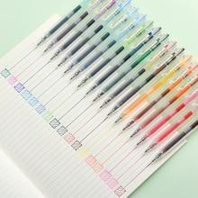 JIANWU 24 шт./компл. 0,5 мм креативная цветная гелевая ручка для канцелярских принадлежностей авторучка для журналов Милая ручка для нойтера школьные принадлежности Прямая поставка 2019