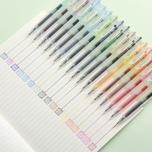 JIANWU 24 יח\סט 0.5mm creative מכתבים צבע ג ל עט יומן עט חמוד סירוס ספר עט dropshipping 2019