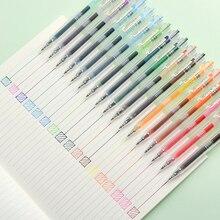 JIANWU stylo gel couleur, ensemble de 24 pièces/ensemble, papeterie créative mignon, 0.5mm, fournitures scolaires, livraison directe, 2019