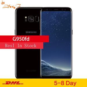 Оригинальный телефон Samsung Galaxy S8 G950FD, телефон с двумя Sim-картами, GSM, телефон с восьмиядерным процессором, экран 5,8 дюйма, 12 Мп, ОЗУ 4 Гб, ПЗУ 64 ГБ, ...