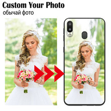 DIY Mewah Custom Case untuk Samsung Galaxy M10 A10 20 30 40 50 60 70 A20E A6 A8 A9 S a20 Inti Catatan 10 10Plus Case DIY Foto Cover(China)