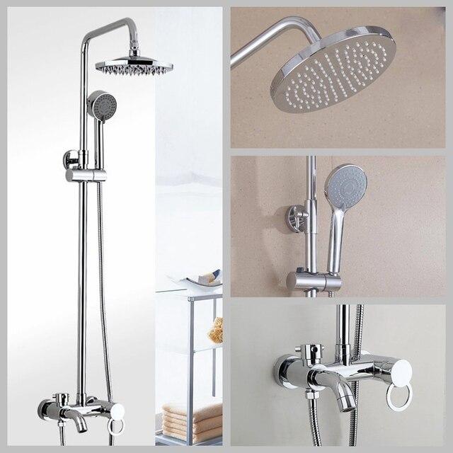 Ensemble de douche de salle de bain 8-10-12 pouces pomme de douche de pluie mitigeur de douche de bain avec douchette