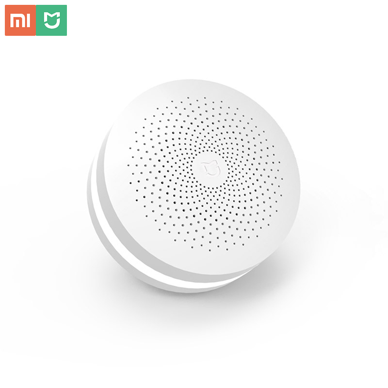 Xiaomi Gateway 2 Original Mijia Smart Home Kits Gateway Hub Alarm System Control Radio Yi Camers Mi Door Sensor Bell Temperature