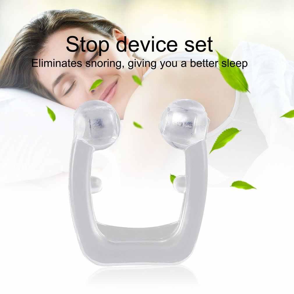 Portátil macio saúde silicone anti ronco aliviar o congestionamento nasal ressonar dispositivos ventilação anti-ronco nariz clip 2019