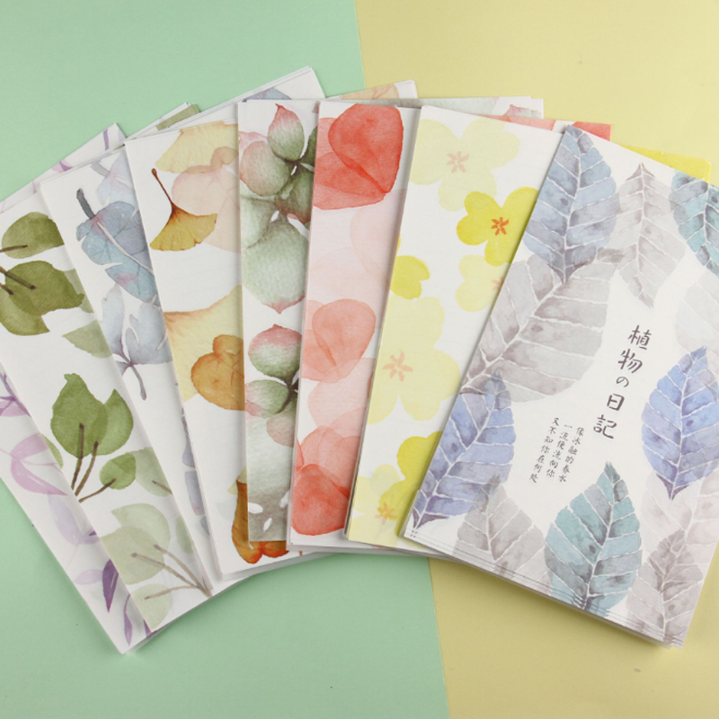 1set/pack Cute Plant Diary A4 Big Letter Paper Envelopes Office School Party Invitation Supplies Writing Paper Greeting Cards
