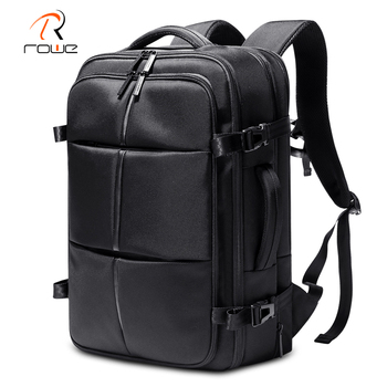 Rowe Expandable Backpack Outdoor Fashion Backpack Fit For 15.6 Inch Laptop Bag For Men Waterproof Large Capacity Travel Backpack rowe 15 6 inch laptop backpack large capacity waterproof men backpack anti theft travel teenage backpack bag bagpack mochila new