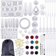 98pcs/Set Jewelry Making Silicone Casting Mould Carving Molds Jewelry Making Tool DIY LXH
