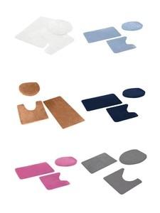 Image 5 - 3 stücke Bad Dusche Wasser Absorption Teppich Non Slip Fisch Skala Bad Matte Set Küche Wc Teppiche Matten Boden teppich Fußmatten Decor