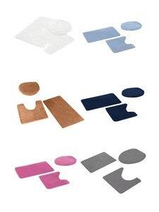 Image 5 - 3pcs Bathroom Shower Water Absorption Rug Non Slip Fish Scale Bath Mat Set Kitchen Toilet Rugs Mats Floor Carpet Doormats Decor