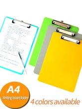 Carpeta de archivos con Clip, tablero de escritura de plástico para documentos, tableta de dibujo multifuncional, papel a4, almohadilla de escritura, suministros para estudiantes de oficina