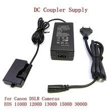 ACK-E10 внешняя цифровая камера AC адаптер питания Комплект DC муфта питания для Canon DSLR камера s EOS 1100D 1200D 1300D 1500D 3000D