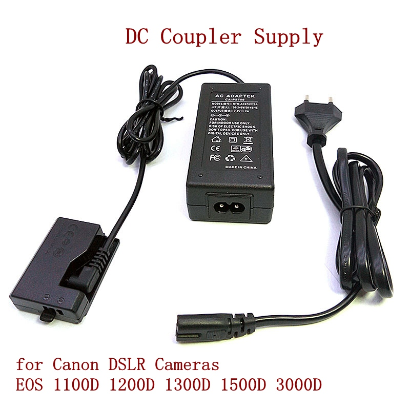 ACK-E10 External Digital Camera AC Power Adapter Kit DC Coupler Supply For Canon DSLR Cameras EOS 1100D 1200D 1300D 1500D 3000D