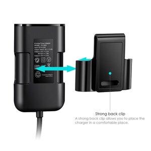 Image 4 - Nohon Qc 3.0 Voor En Achter Auto Oplader Voor Iphone 11 Pro Max Mobiele Telefoon Lading In Auto Voor Xiaomi samsung Met Verlengkabel