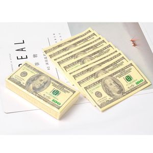 100 $ Dollars serviette US Dollar Bill argent papier serviette fête délicat cadeau 10 pièces