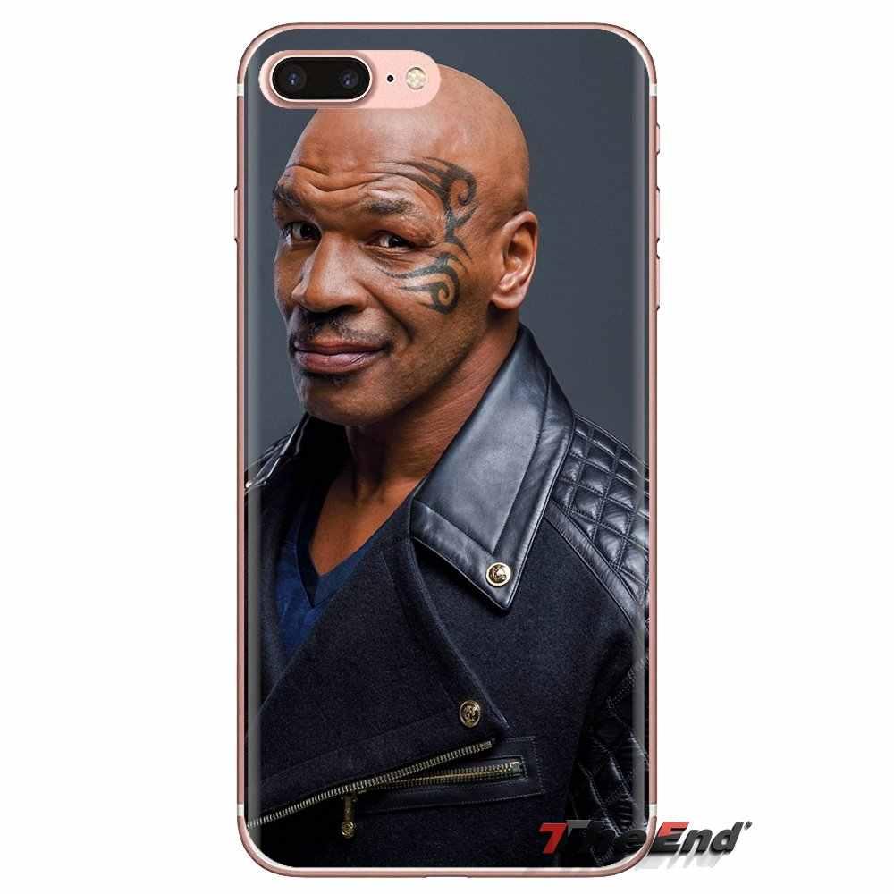 Mike Tyson Pro boxeo patrón de estrella para LG espíritu Motorola Moto X4 E4 E5 G5 G5S G6 Z Z2 Z3 g2 G3 C Play Plus Mini funda suave