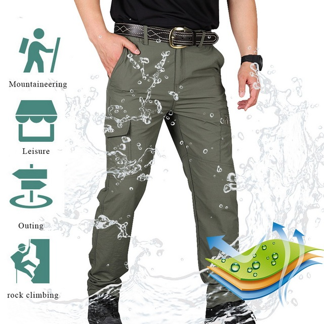 SHUJIN Men Cargo Pant Men Multi-Pocket Overall Male Combat Trousers Casual Tooling Pants Army Green Cargo Pants Men Size S-4XL 4