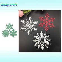 3pcs Snowflake Christmas Metal Cutting Dies for DIY Scrapbooking Embossing Paper Card Album Decoration Crafts Cut 2019