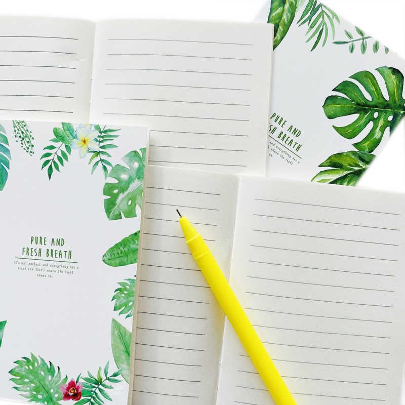 20 Halaman Lucu Murni dan Nafas Segar Hijau Daun Notebook Menulis Buku Harian Buku Sekolah Kantor Pasokan Siswa Alat Tulis