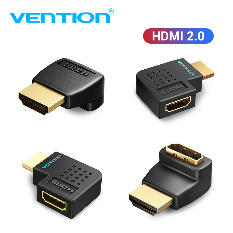 Vention HDMI Adapter 270 90 Degree Right Angle HDMI Male to HDMI Female Converter for PS4 HDTV HDMI Cable 4K HDMI 2.0 Extender(China)