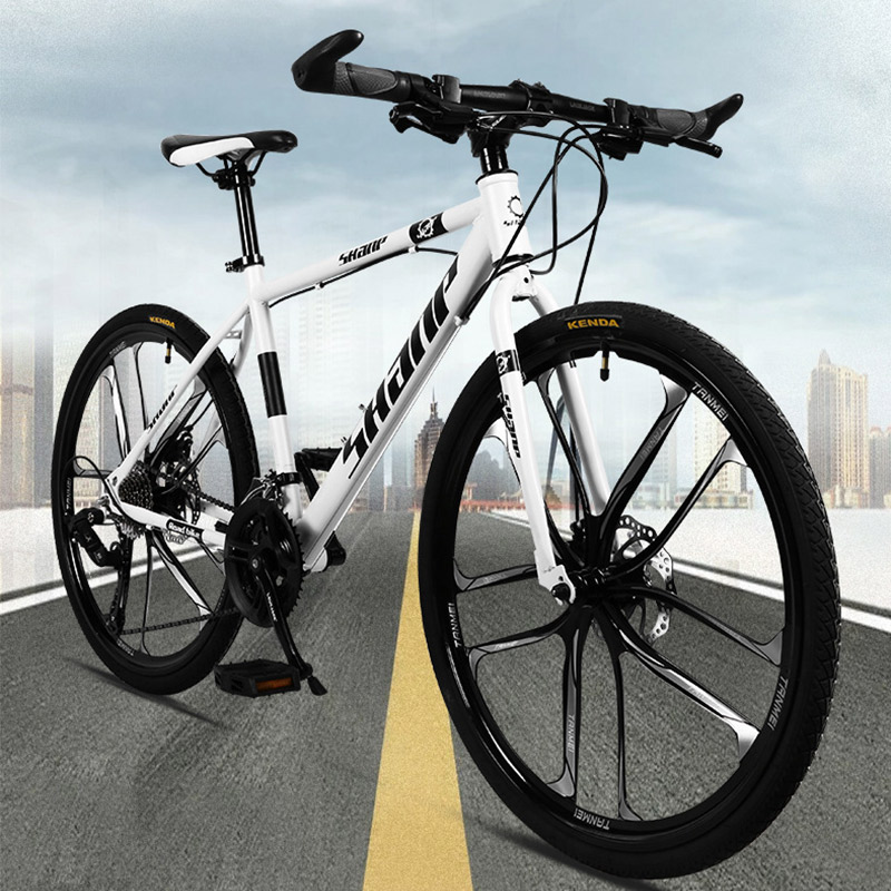 Adult mountain bike bicycle 26 inch 21/24/27 speed dual disc brake one wheel off-road variable speed men and women bicycle image