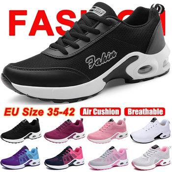 Nowe damskie buty sportowe marki damskie buty do biegania oddychające damskie buty tanie trenerzy damskie trampki damskie tanie i dobre opinie cungel WOMEN CN (pochodzenie) LIFESTYLE Stabilność Hard court Początkujący Wysokość zwiększenie Masaż Mesh (air mesh)