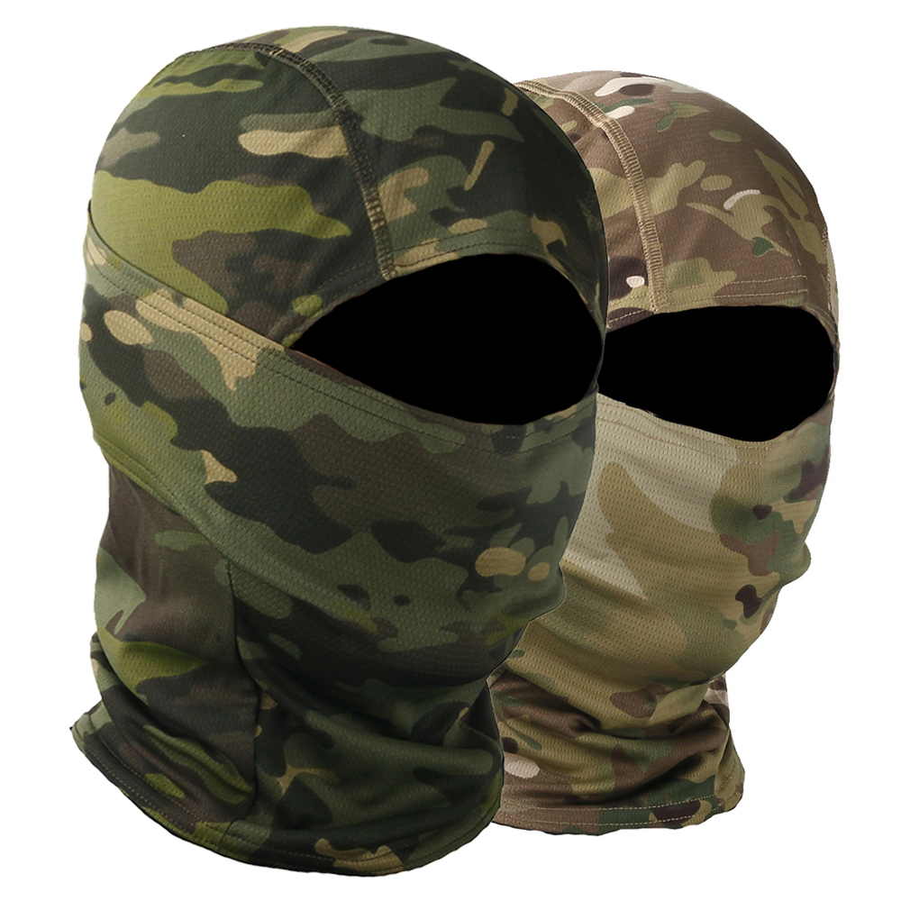 Camouflage Balaclava Moto Skull Mask Motorcycle Face Mask Biker Hunting Helmet Cap Motorbike Military Tactical Biker Face Shield