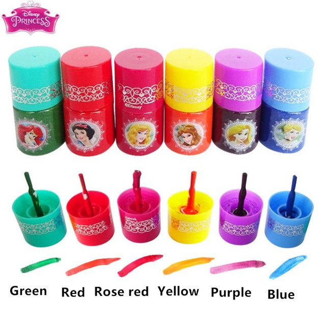 Disney Water-soluble Nail Polish Tearable Pretend Play Toys Children Girls Makeup Toy Gift 3