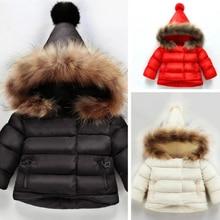 Winter Thick Cotton Coat Down Jacke Park For Girls Down Jacket For Girls  Fur Hooded Children Outerwear Children's Down Jacket цены онлайн